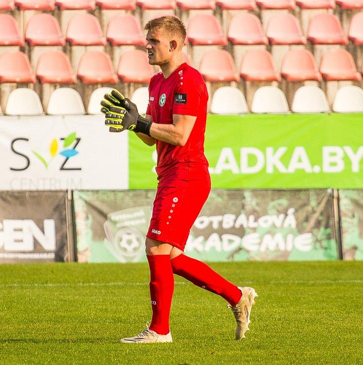 Brankář 1. FK Příbram Martin Melichar.