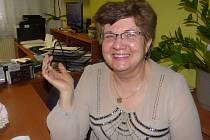 1.PROJEKT Srdce pro seniora má podle Marie Formáčkové význam a ráda si s dříve narozenými popovídala také v Sedlčanech.