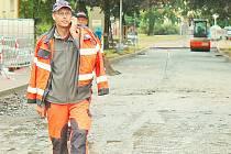 Oprava ulice K. H. Máchy v Příbrami.
