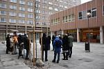 Pěší zóna Cíl v Příbram po dokončení rekonstrukce.