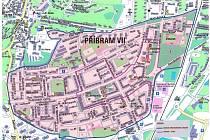 Zóna březohorského sídliště, kterého se Integrovaný plán rozvoje města týká