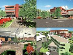 Vizualizace Oblastní nemocnice Příbram