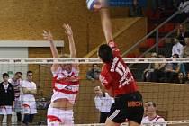 Volejbalisté Vavexu Příbram podruhé v řadě prohráli 0:3. Tentokrát v Brně.
