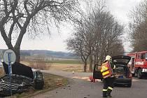 Nehoda u jesenické autobusové zastávky.