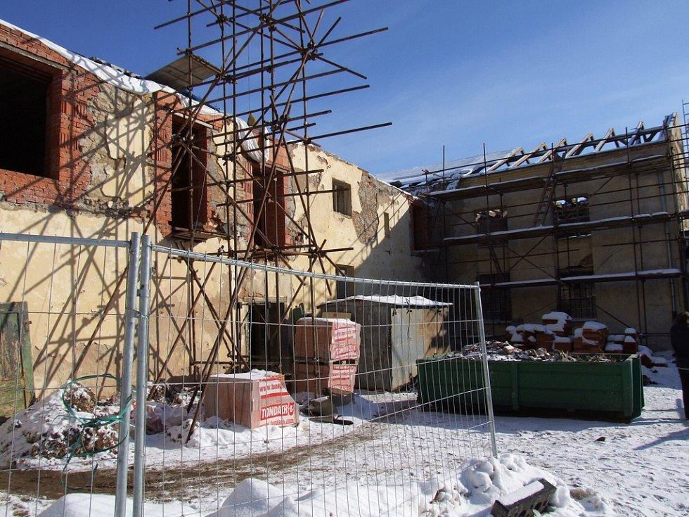 Staveniště muzea v Rožmitále.