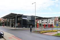 Autobusový terminál v Sedlčanech.