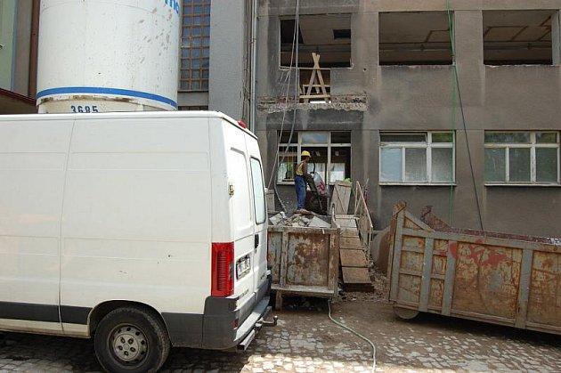 Rekonstrukce v příbramské nemocnici.