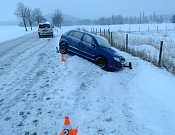Nehoda 31. ledna u Rožmitálu.