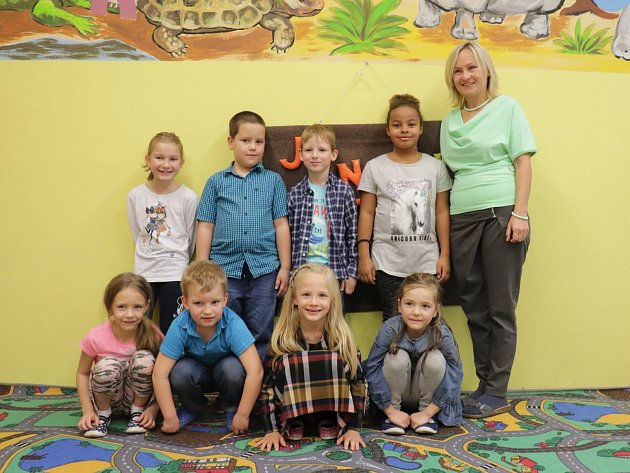 Prvňáčci ze Základní školy Dolní Hbity ve školním roce 2019/2020.