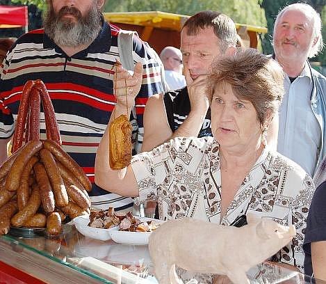 Farmářské trhy v Příbrami u Hořejší Obory.