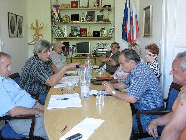 Schůzka na radnici v Příbrami