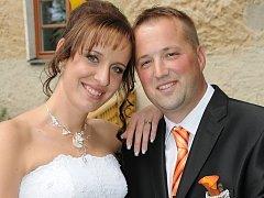 Aneta Maněnová a Michal Kratochvíl si navlékli snubní prstýnky v sobotu 12. července ve 13 hodin na Zámečku v Příbrami.