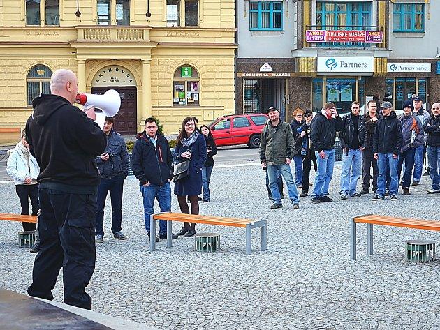 Demonstrace v Příbrami.