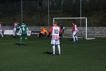 Zápas Superligy malého fotbalu Příbram - Brno