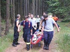 Situací v Brdech se zabývali hasiči na valné hromadě o víkendu. FOTO: Radek Ctibor/Policie ČR