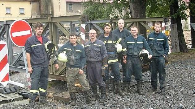 Příbramští hasiči v Chrastavě.