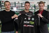 Zleva: Jan Starka, Dominik Kraut a Petr Větrovský.