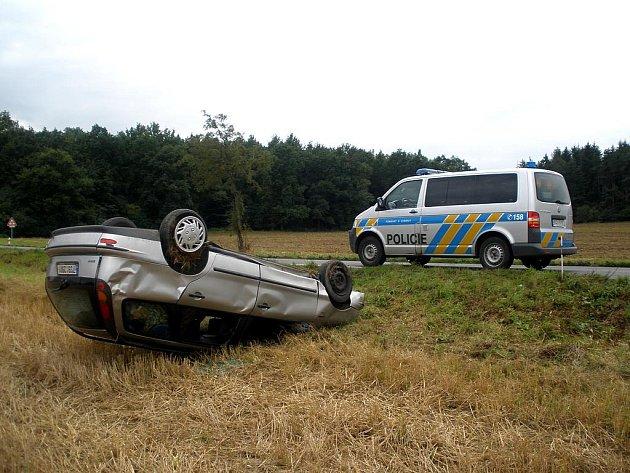 Čtvrteční nehoda u Tochovic.
