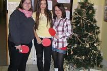Trio nejlepších dívek – zleva: Vendula Beranová, Andrea Kučerová, Jana Čížková.