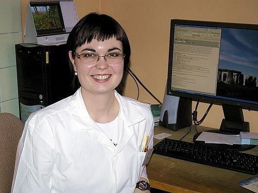 Lékařka Marie Sukovská působí na stáži v příbramské nemocnici na plicním oddělení