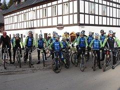 Cyklisté CK Příbram Fany Gastroservis na soustředění.
