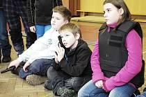 Děti u příbramské policie.