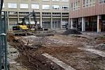Rekonstrukce pěší zóny Cíl v Příbrami.