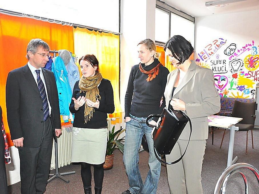 Ministr práce a sociálních věcí Jaromír Drábek v příbramské Bedně.