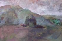 Jeden z exponátů - obraz Karla Řepy - výstavy 'Nebe vzdálené i blízké' věnované památce spisovatele, dramatika a básníka Jiřího Stránského.