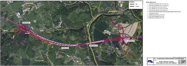 úpravy na trase budoucí dálnice D3 vúseku Jílové uPrahy - Hostěradice.