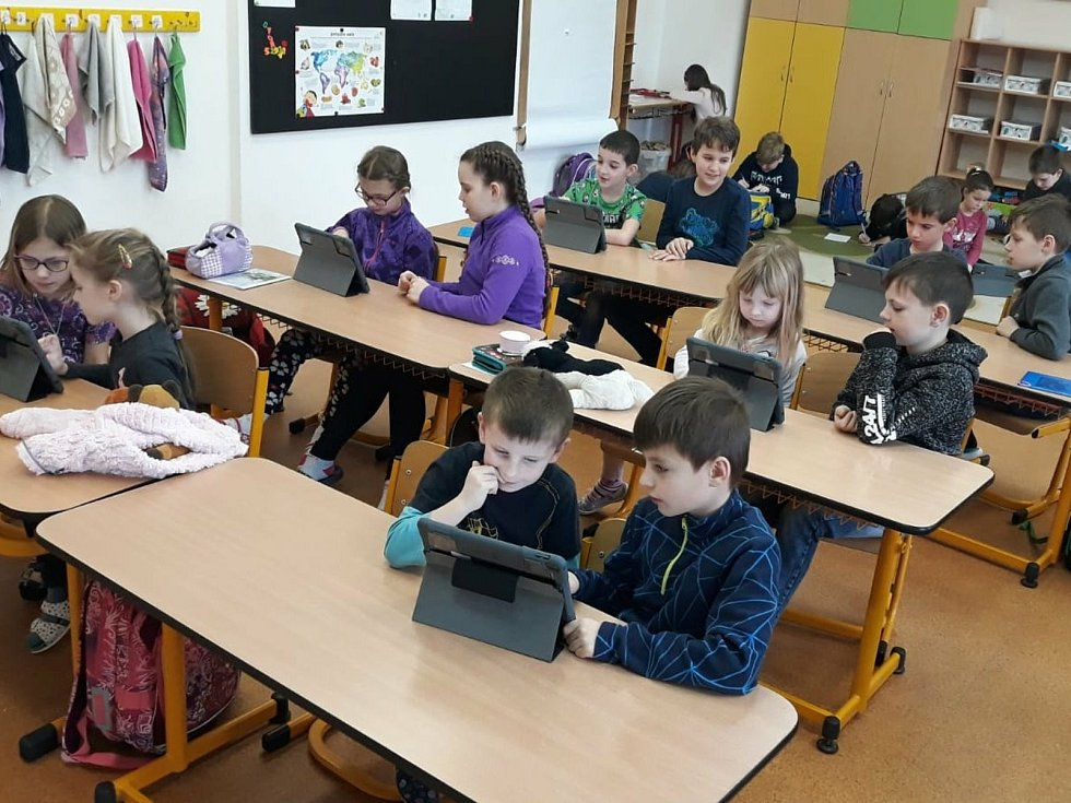 Z výuky na Základní škole Březové Hory v Příbrami.