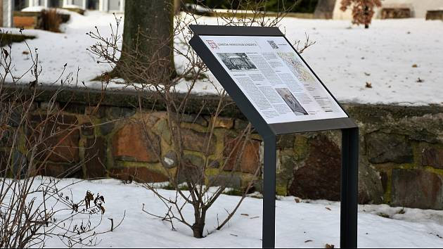Informační panel v Příbrami.