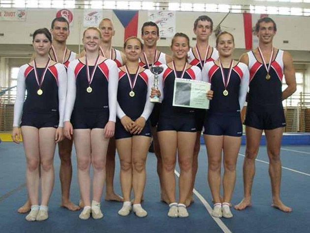 Družstvo Sokola Příbram je čerstvým mistrem republiky v soutěži Team Gym.
