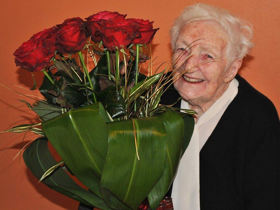 Pavlína Jelenová oslavila 100 let.