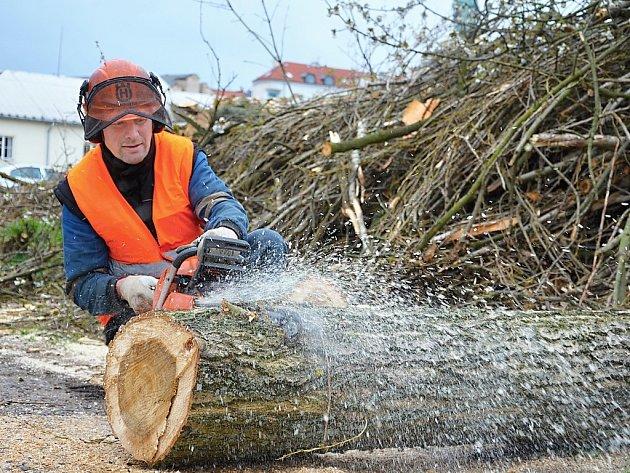 Stavba cyklostezky začala, na Rynečku padly stromy.