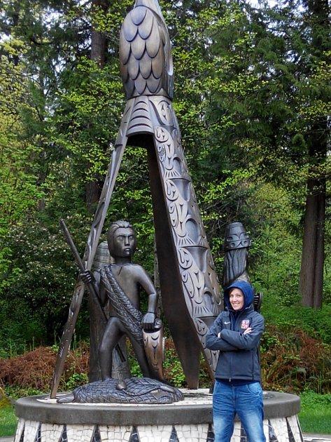 Kateřina Flachsová při návštěvě Vancouveru.