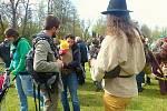 Pálení čarodějnic v areálu Nového rybníku v Příbrami.
