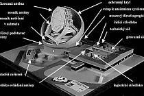 Ilustrace toho, jak by měl plánovaný radar v Brdech vypadat