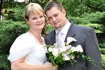 Zuzana Svobodová a Martin Brabec si řekli svoje ano v příbramském zámečku. Svatební obřad se konal v pátek 25. června ve 12 hodin.