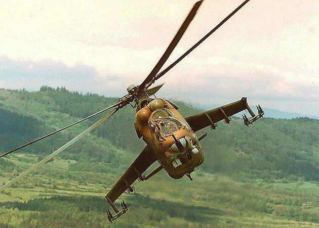 Mi-24 bojový vrtulník.
