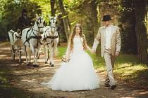 Svatba na dobříšském zámku.