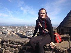 Martina Stromková v Edinburghu.
