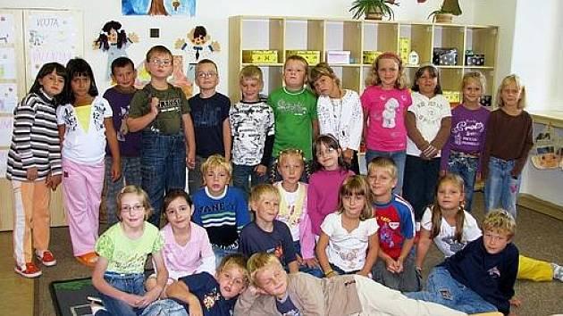Prvnáčci z 1. B  ze Základní školy Březové Hory
