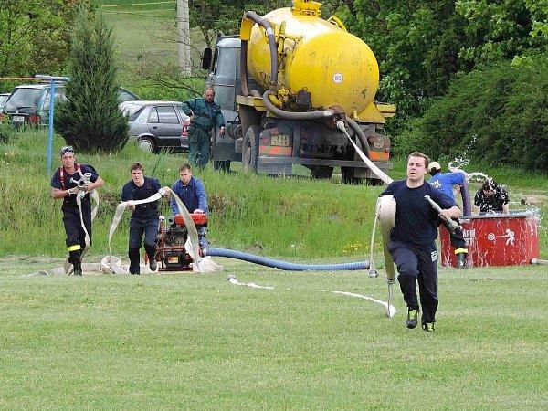 Okrsková hasičská soutěž vMilešově.