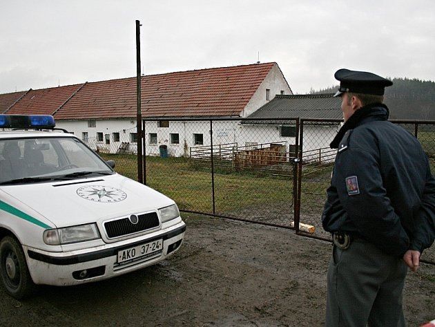 Vepřín v Nalžovicích u Sedlčan, kde se nebezpečné chemikálie vyskytly