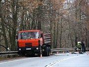 Tragická dopravní nehoda na okraji Příbrami v úterý 8. ledna 2019.