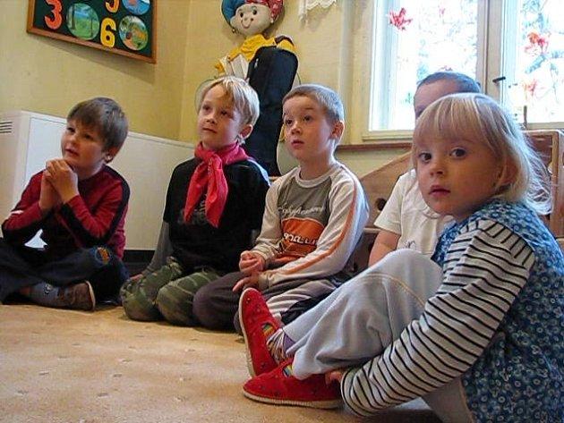 Děti z mateřské školky Rybička