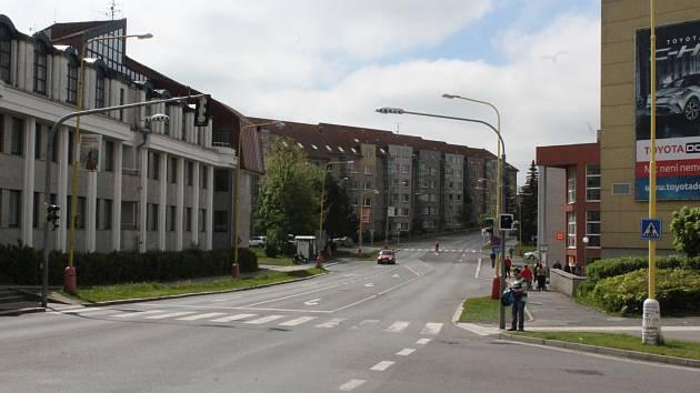 Milínská ulice v Příbrami.
