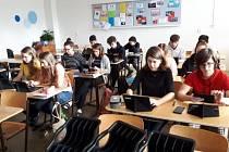 Studenti Gymnázia Pod Svatou Horou v Příbrami.
