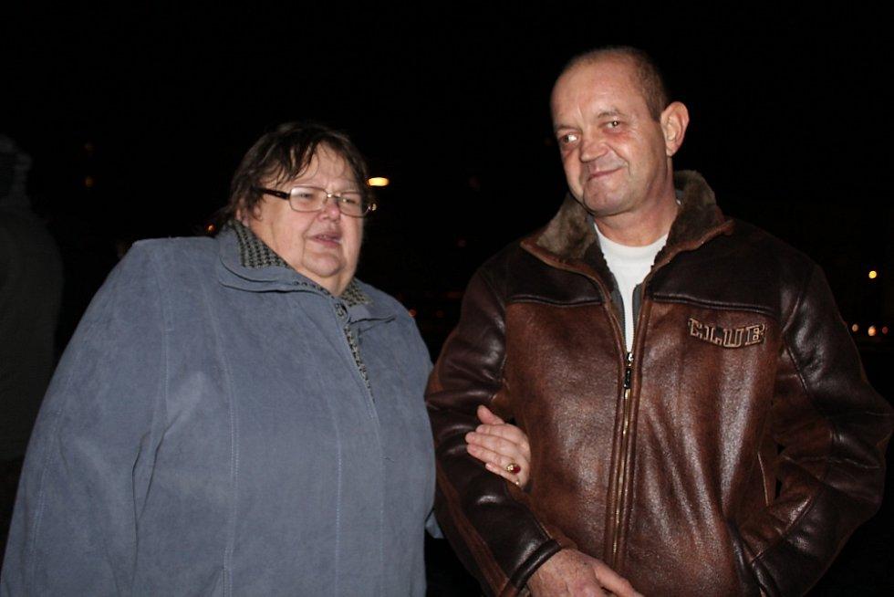 Alena Synková s manželem.